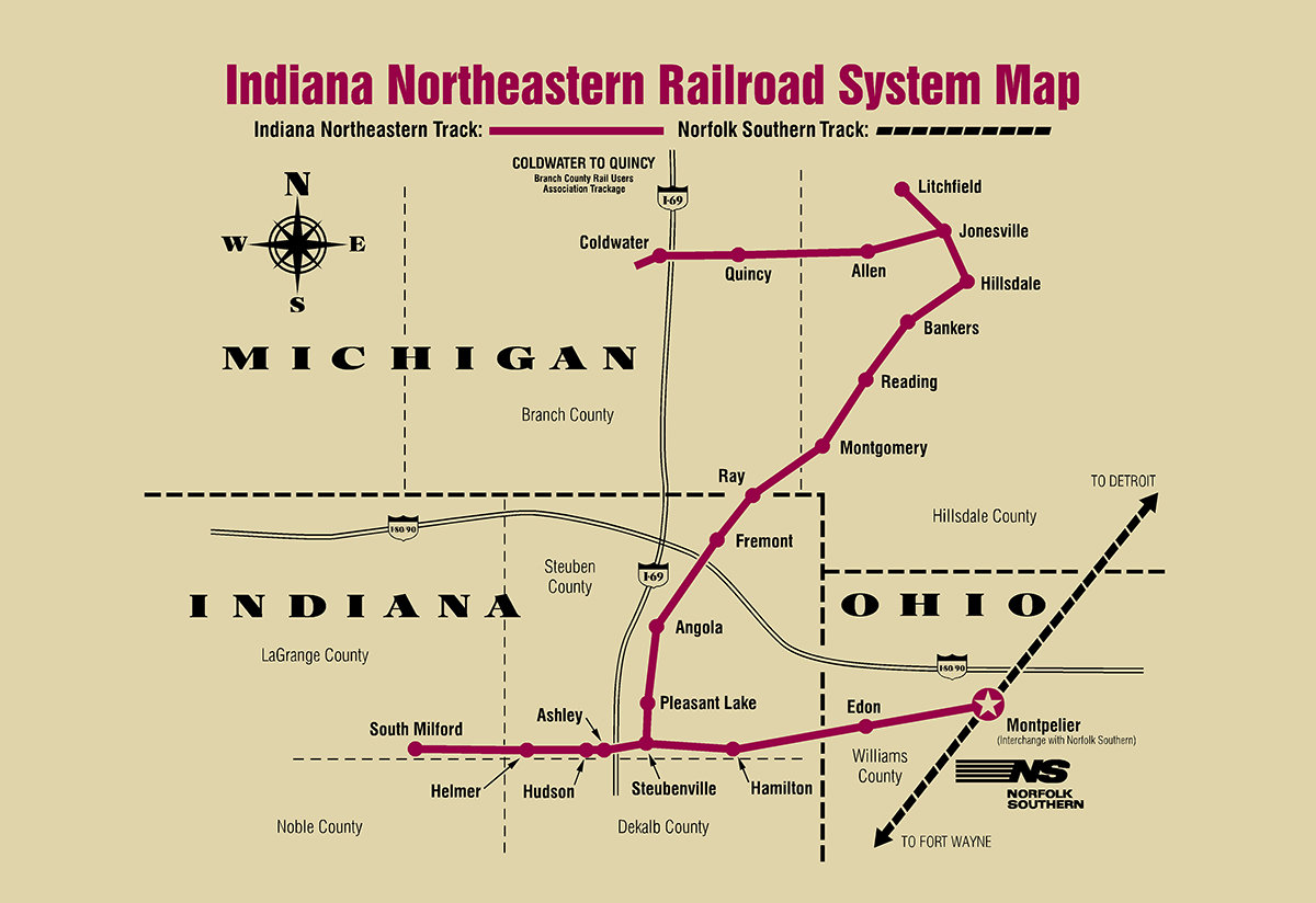 Doents & Links – Indiana Northeastern Railroad on indiana gas line maps, indiana breweries list, indiana industrial map, wayne county michigan zip code map, central of georgia map, indiana railroads 1950s, indiana utilities map, us 40 indiana map, monon indiana map, norfolk & western map, big indiana state map, cleveland rail map, indiana electrical lines, indiana ohio railway company, indiana truck map, indiana outline vector, indiana trains, minnesota commercial railway map, big pine creek indiana map, indiana interurban,