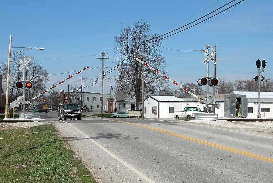 New surface and signals are installed and in service at Ohio State Road 49, Edon. (April, 2006)