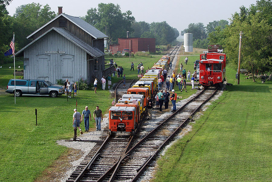 Indiana Northeastern Railroad hosts a two-day N.A.R.C.O.A. motorcar excursion. (August, 2003)