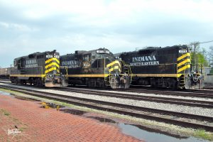 IN 1601, 1073 and 1770 lined up in Hillsdale. (May, 2006)