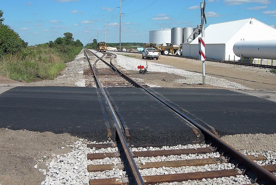 New passing track is finished to better serve Edon Farmers Co-Op. 1 of 2 photos. (August, 2006)