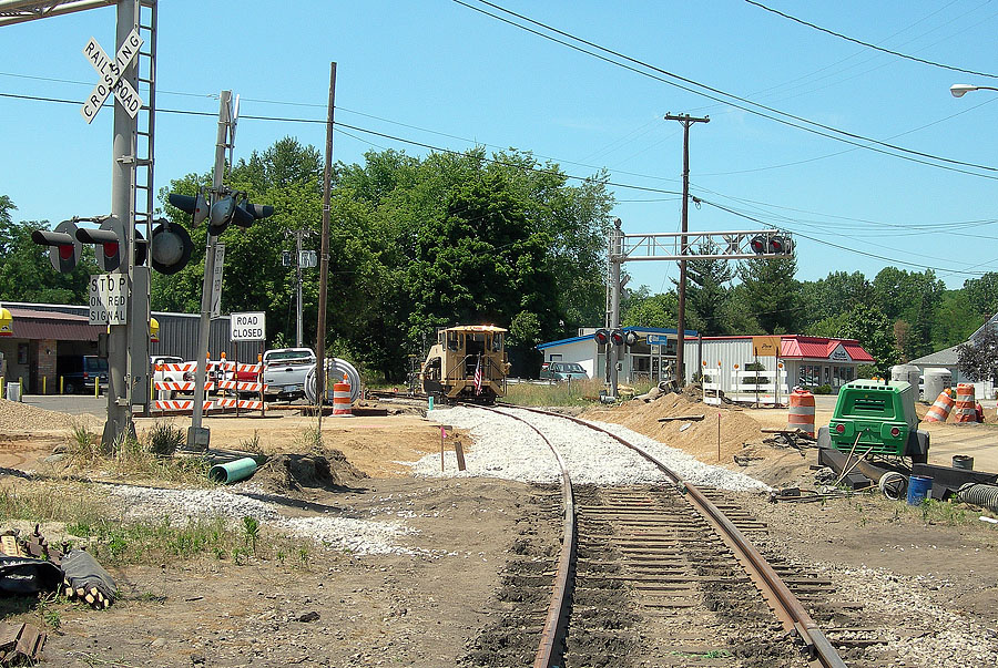 East leg of M-99 crossing rebuilt as part of MDOT highway upgrade. (July, 2007)